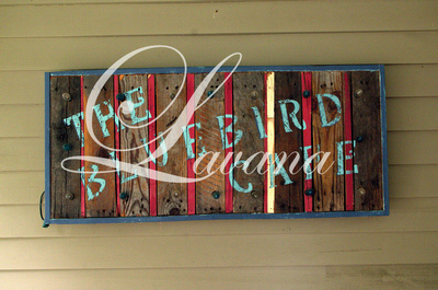 Porch Sign: The Bluebird Cafe