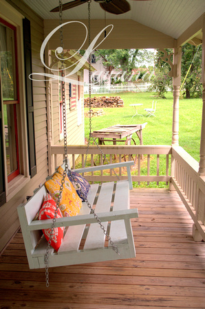 Front porch swing in Leiper's Fork